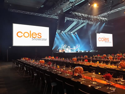 11.3m Black Drapes - Coles Roadshow